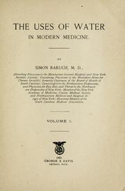 Cover of: The uses of water in modern medicine by Simon Baruch