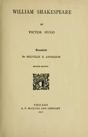 Cover of: William Shakespeare | Victor Hugo