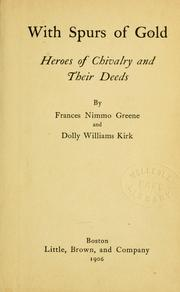Cover of: With spurs of gold | Frances Nimmo Greene