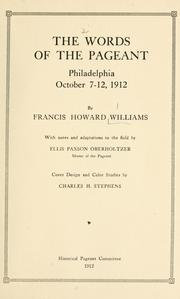 Cover of: The words of the pageant | Francis Howard Williams