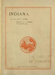 Cover of: Indiana by Dunn, Jacob Piatt