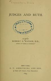 Cover of: Judges and Ruth by Watson, Robert Alexander