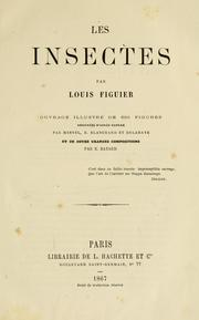 Cover of: Les insectes | Louis Figuier