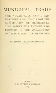 Cover of: Municipal trade | Darwin, Leonard
