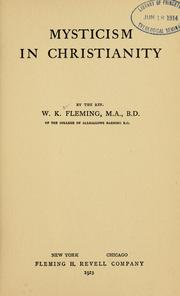 Cover of: Mysticism in Christianity by W. K. Fleming