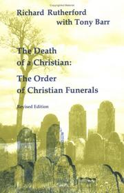 Cover of: Death of a Christian (Studies in the Reformed Rites of the Church) | Richard Rutherford