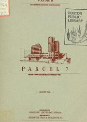 Cover of: Parcel 7, Boston, Massachusetts: schematic design submission | Congress 7 Limited Partnership.