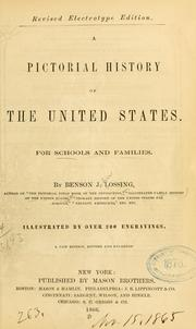 Cover of: A pictorial history of the United States | Benson John Lossing