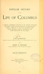 Cover of: Popular history of the life of Columbus | J. H. Langille