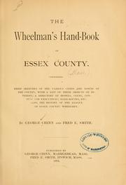 Cover of: The wheelman's hand-book of Essex county | George Chinn