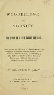 Cover of: Woodbridge and vicinity | Joseph W. Dally
