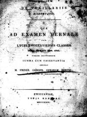 Cover of: De vexillariis dissertatio | Friedrich Gottfried Wilhelm Hertel