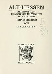 Cover of: Alt Hessen | A. Holtmeyer