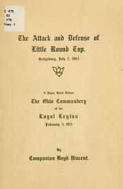 Cover of: The attack and defense of Little Round Top | Vincent, Boyd bp.