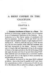 Cover of: A brief course in the calculus | William Cain