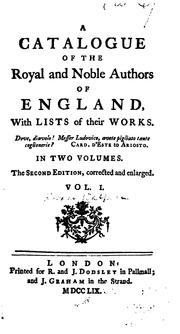 Cover of: A catalogue of the royal and noble authors of England | Horace Walpole