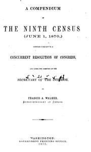 Cover of: A compendium of the Ninth census | United States. Census Office.