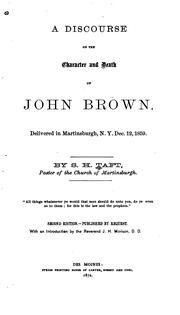 Cover of: A discourse on the chapter and death of John Brown | Stephen H. Taft
