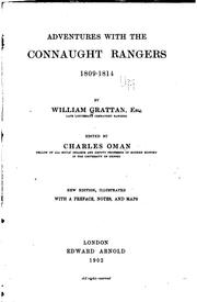 Cover of: Adventures with the Connaught rangers | Grattan, William Lieut., Connaught rangers