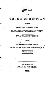 Cover of: Advice to a young Christian | [Waterbury, Jared Bell]