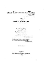 Cover of: All's right with the world | Charles B. Newcomb