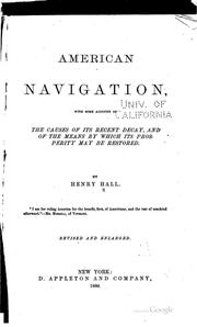 Cover of: American navigation | Henry Hall