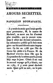 Cover of: Amours secrettes de Napoléon Buonaparte | Doris, Charles de Bourges.