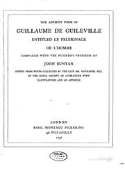 Cover of: The ancient poem of Guillaume de Guileville, entitled | Nathaniel Hill