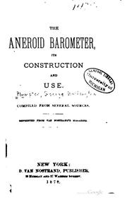 Cover of: The aneroid barometer | George Washington Plympton