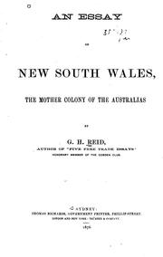 Cover of: An essay on New South Wales | G. H. Reid