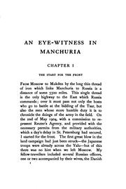 Cover of: An eye-witness in Manchuria | [Leopold Guy Francis Maynard Greville] earl Brooke