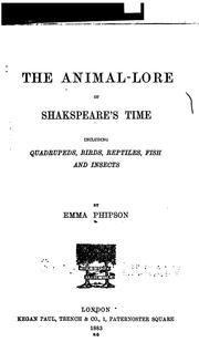 Cover of: The animal-lore of Shakespeare's time | Emma Phipson