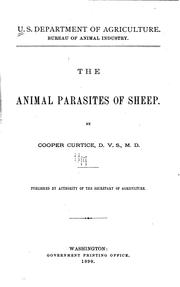 Cover of: The animal parasites of sheep | Cooper Curtice