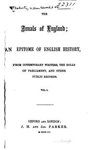 Cover of: The annals of England | William Edward Flaherty