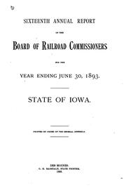 Cover of: Annual report | Iowa. State commerce commision