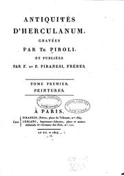 Cover of: Antiquités d'Hereulanum, gravées | Tommaso Piroli