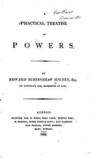 Cover of: A practical treatise of powers by Edward Burtenshaw Sugden