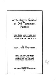 Cover of: Archeology's solution of Old Testament puzzles | John Urquhart