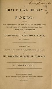 Cover of: A practical essay on banking | Joseph Macardy