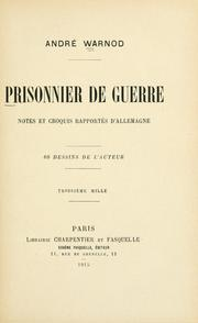 Cover of: Prisonnier de guerre | André Warnod