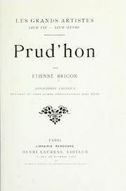 Cover of: Prud'hon | Etienne Louis Marie Joseph Bricon