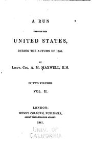 Cover of: A run through the United States | Archibald Montgomery Maxwell