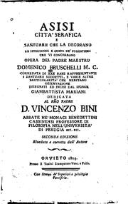 Cover of: Asisi citta' serafica e santuarii che la decorano | Domenico Bruschelli