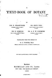Cover of: A text-book of botany by Dr. E. Strasburger, Dr. Fritz Noll, Dr. H. Schenck, Dr. A. F. W. Schimper | Eduard Strasburger