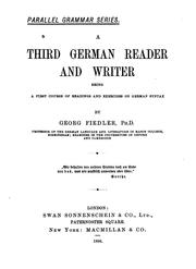 Cover of: A third German reader ad writer | Herman Georg Fiedler