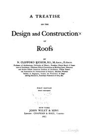 Cover of: A treatise on design and construction of roofs | N. Clifford Ricker