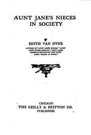 Cover of: Aunt Jane's nieces in society | Edith Van Dyne