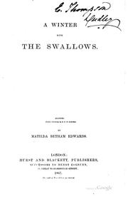 Cover of: A winter with the swallows | Matilda Barbara Bethnam- Edwards