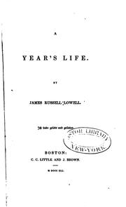 Cover of: A year's life | James Russell Lowell