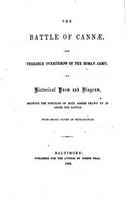 Cover of: The battle of Cannæ | Henry Stump